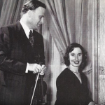 Jeanne Demessieux, with violist Yehudi Menuhin